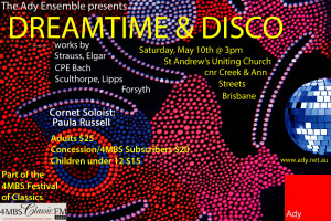 Dreamtime Disco flyer