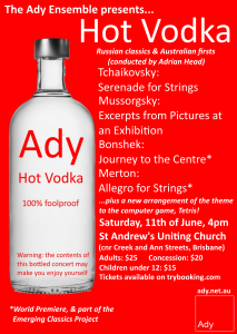 Hot Vodka flyer A6